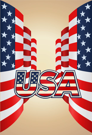 vector raster background: United Stated flag