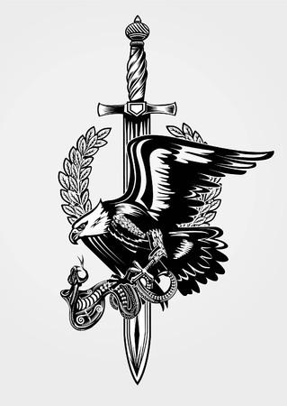 Eagle and snake rifle.