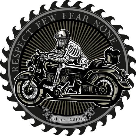 vintage motorfiets label