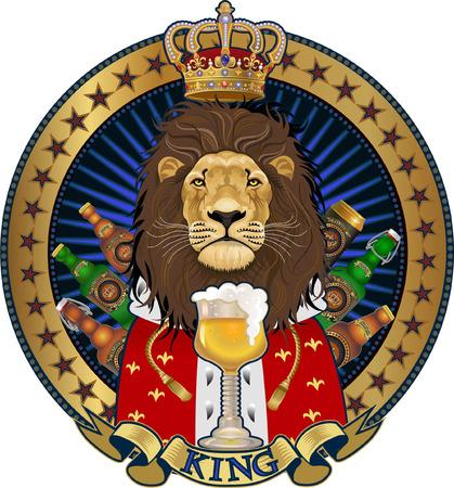 King Lion illustration. Illustration