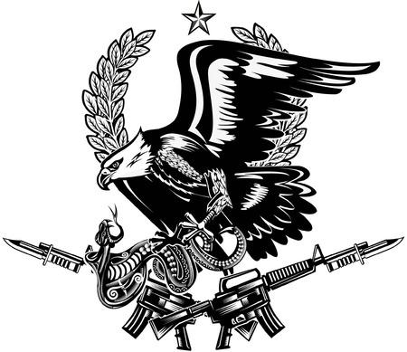 Eagle and Snake. Rifle