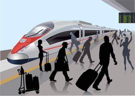 Modern treinstation