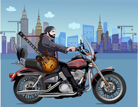 Man on the motorbike.