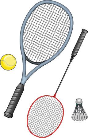 sports equipment: Tennis and badminton