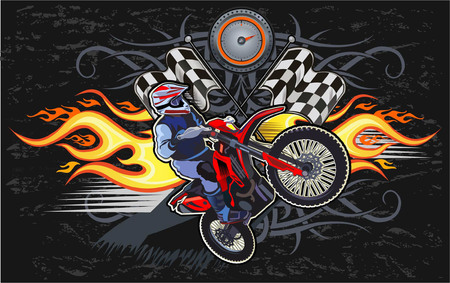 Man on the motorbike Illustration