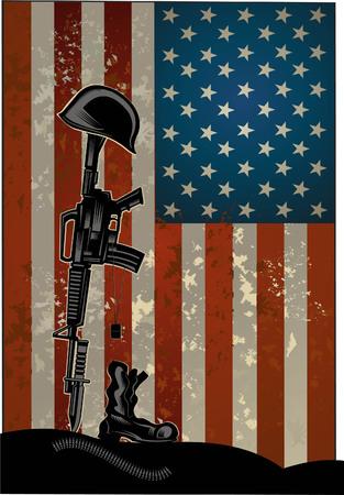 Illustrazione di giorno dei veterani. Onorare i veterani americani che hanno servito