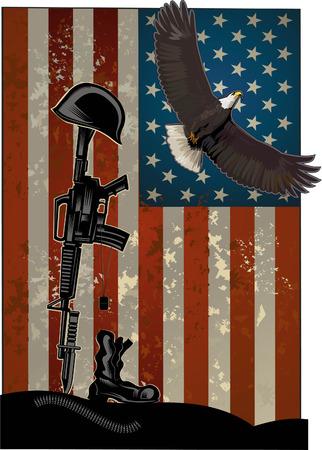Illustrazione del giorno di veterani che celebra i veterani americani che mangiano