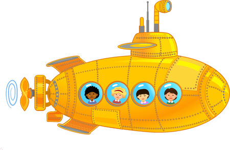 Submarine with kids
