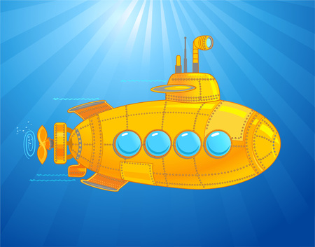 Submarine with kids