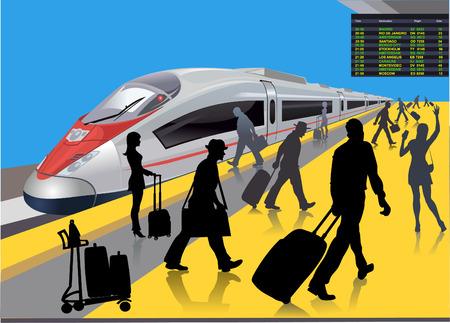 Modern railway station   Illustration