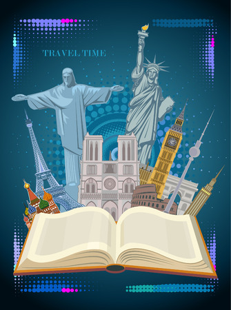 Travel and tourism illustration. Illustration