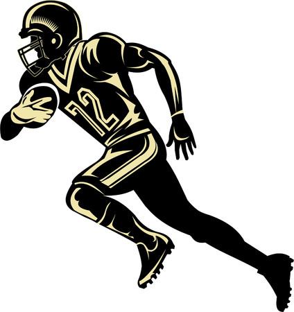 American football player vector illustration Illustration