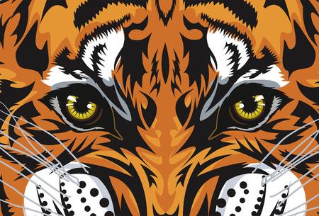Tiger Face. Tiger's eyes Tattoo