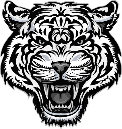 Saber-toothed tiger tattoo