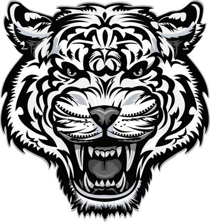 Tatuaggio di tigre dai denti a sciabola