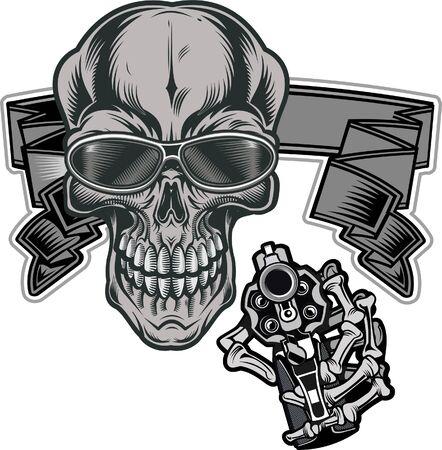 Skull tattoo. Life is Short