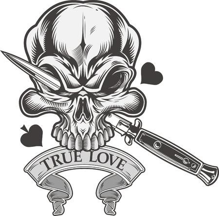 skull dagger knife  Illustration