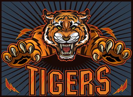 Tiger Jump. Sport Team