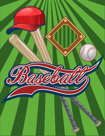 Étiquette de match de baseball Vecteurs