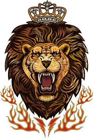 Face King Lion  Illustration