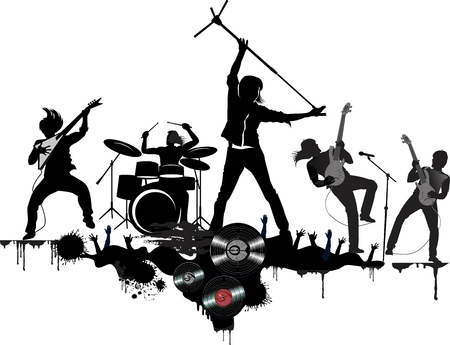 Légendes du rock and roll Vecteurs