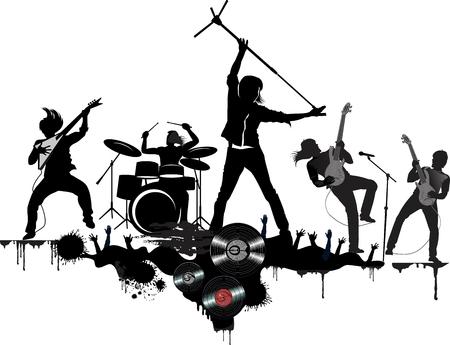 Leyendas del rock and roll Ilustración de vector