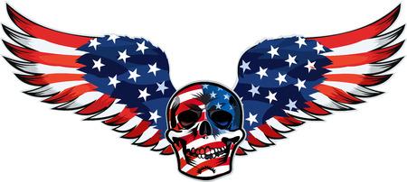skull and USA flag