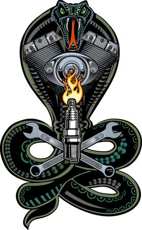Snake V-twin engine Imagens - 106233205