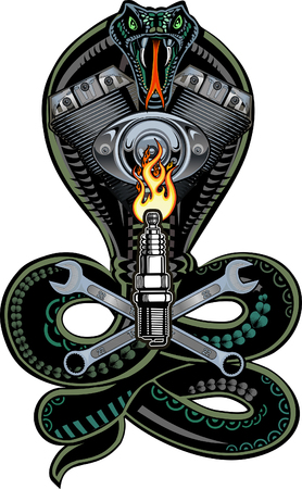 Snake V-twin engine