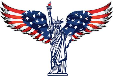 Freiheitsstatue. New York und amerikanisches Symbol
