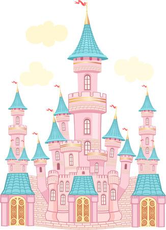 FairyTale castle. Air-Castle Stock Illustratie