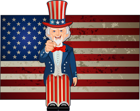 American icon and symbol of freedom Uncle Sam Banco de Imagens - 111523723