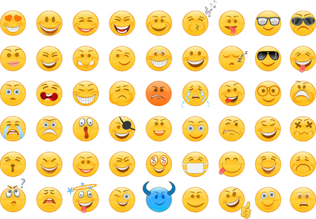 Emoticon. Style smile face icons