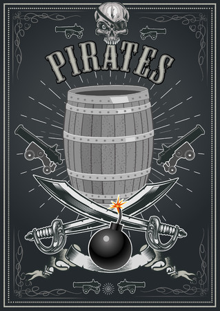 Jolly Roger Pirate skull