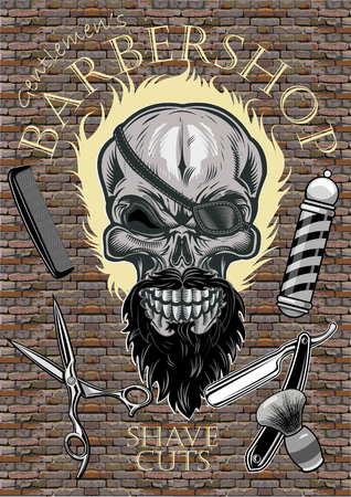 Skull Barbershop. Shave and Cuts