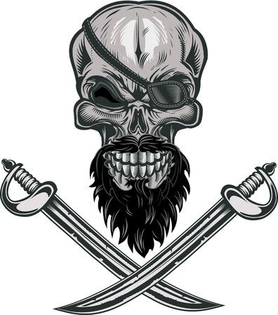 Crâne de pirate Jolly Roger