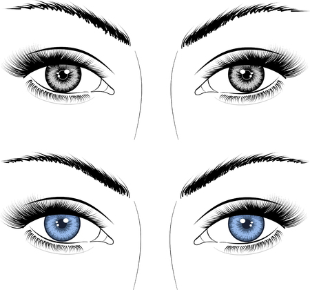 colors woman eyes drawing
