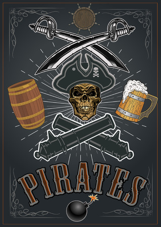 Pirates Mug of Beer 向量圖像
