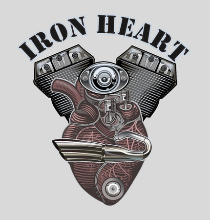 Mechanical heart. Motor power. Anatomic mechanic heart