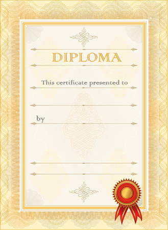 Certificate. Diploma currency border.  Diploma blank certificate template