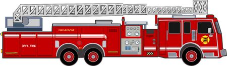 illustration of a firefighter car