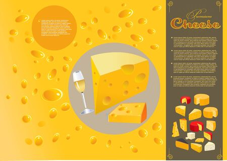 Most popular kind of cheese Foto de archivo - 135502238