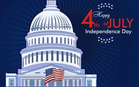 USA Independence day 4 July Çizim