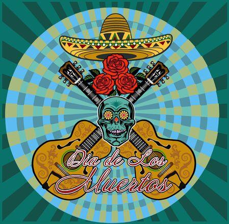 Dia de Los Muertos, Mexican Day of the Dead   イラスト・ベクター素材