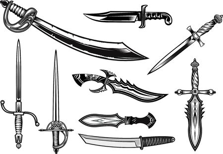 Knife, dagger, sword and saber