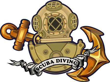 Retro Heavy diving helmet from metal