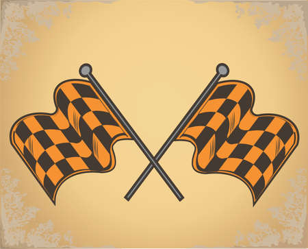 Checkered. Checkered Flags Finish Flag