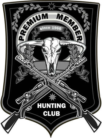 Vintage hunting labels with animal 写真素材