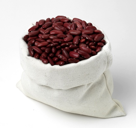 Close-up rednut of assorted cereals in paper bags  Stock Photo