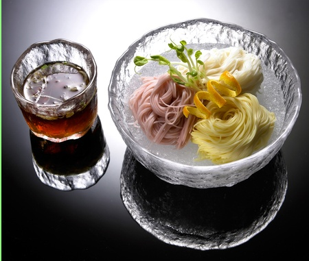 Japanese Cold Noodles Salad Stock Photo